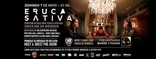 Eruca Sativa En Mendoza!  http://sientemendoza.com/event/eruca-sativa-en-mendoza/