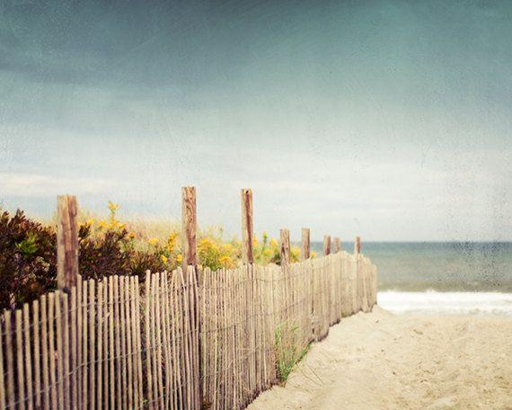 Beach Photography Print Beach Dune Landscape door CarolynCochrane