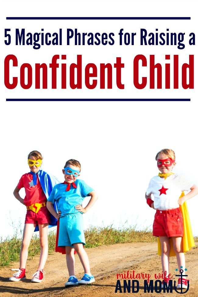 Wondering what to say to raise a confident child? Use these 5 key phrases! via…