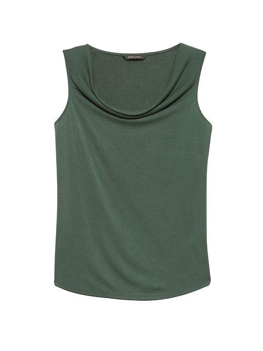 f1af255086b4eebb1c79b916a17fe39c - Love the color, neckline & cut Sandwashed Modal Blend Cowl-Neck Top