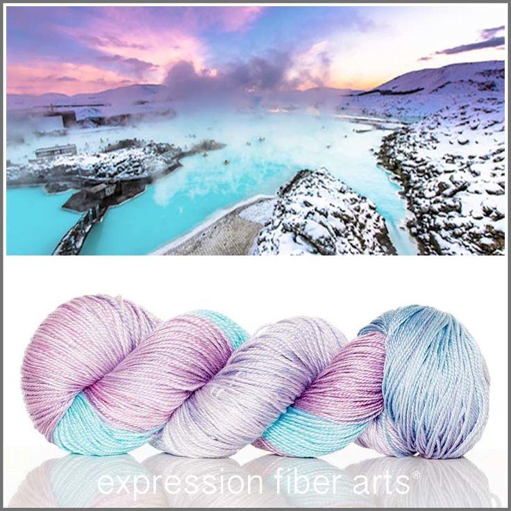 Expression Fiber Arts, Inc. - BLUE LAGOON 'LUSTER' MERINO TENCEL SPORT   Free Tie Dye Bag, $24.00 (http://www.expressionfiberarts.com/products/blue-lagoon-luster-merino-tencel-sport-free-tie-dye-bag.html)