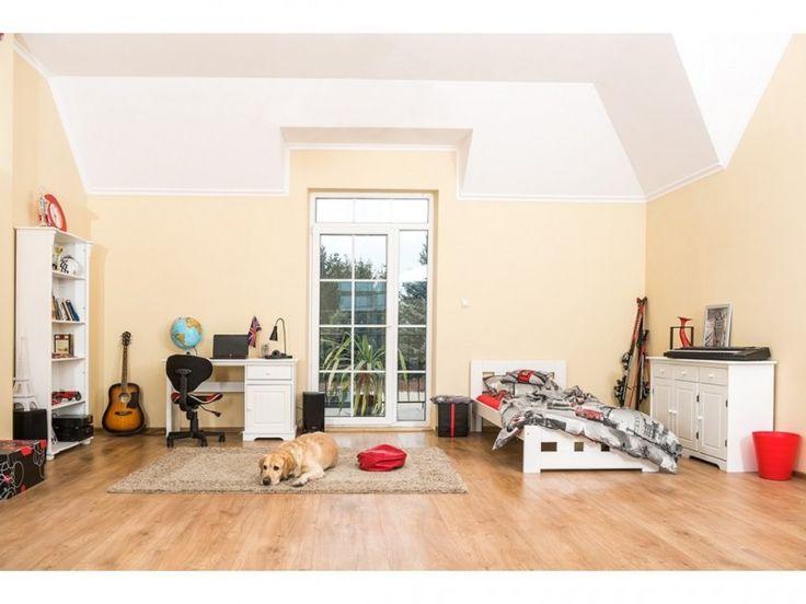 Dětský pokoj Korfu+postel Kvadrat s úložným prostorem a roštem, borovice, masiv, bílý
