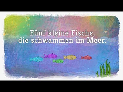 Fünf kleine Fische - Lichterkinder | Kinderlieder | Bewegungs - und Laternenlieder - YouTube