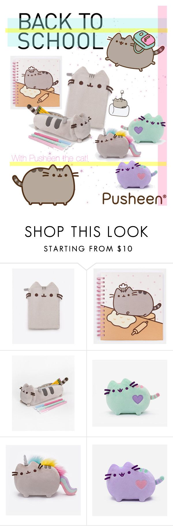 """""""#PVxPusheen"""" by gabyidc ❤ liked on Polyvore featuring Pusheen, contestentry and PVxPusheen"""