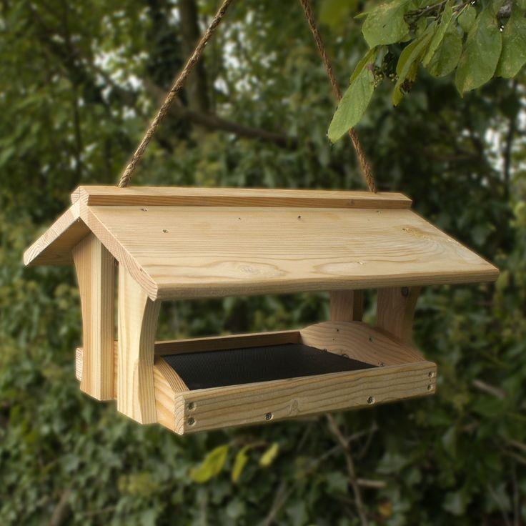 Best 25 wooden bird feeders ideas on pinterest - Bird feeder garden designs ...