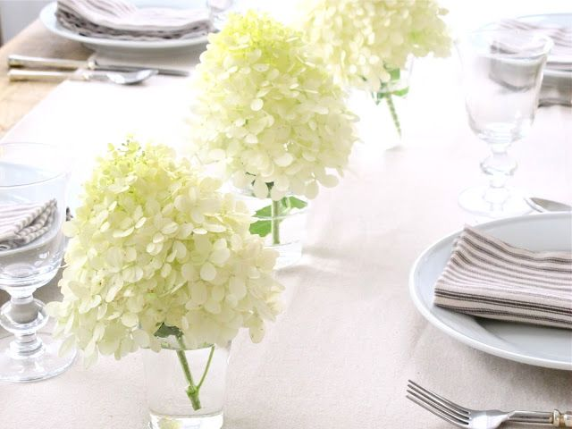 Jenny Steffens Hobick: Hydrangea Season | 3 Easy Centerpieces using Hydrangeas No Vases Needed