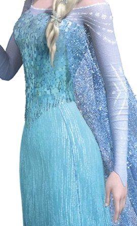 Close up of the real princess elsa dress.
