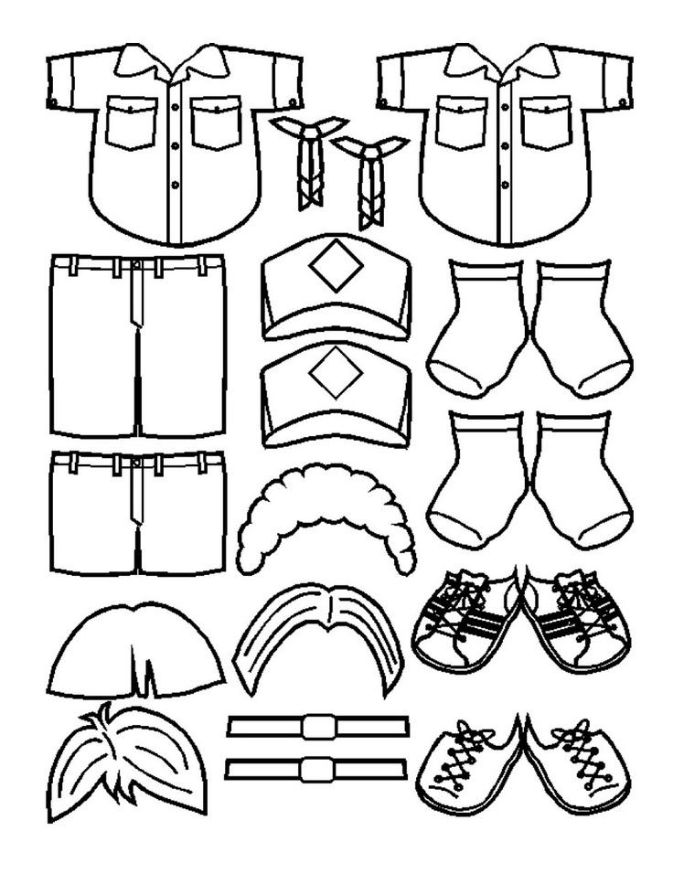 scout uniform svg