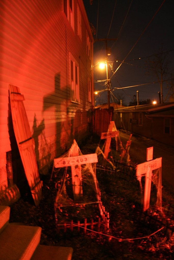 Home haunt theme prison graveyard gothic decorations pinterest prison graveyards and home - Halloween decorations toronto ...