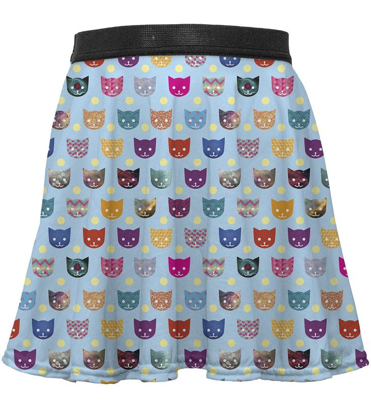 Funny Cats circle skirt for kids, Mr. GUGU & Miss GO