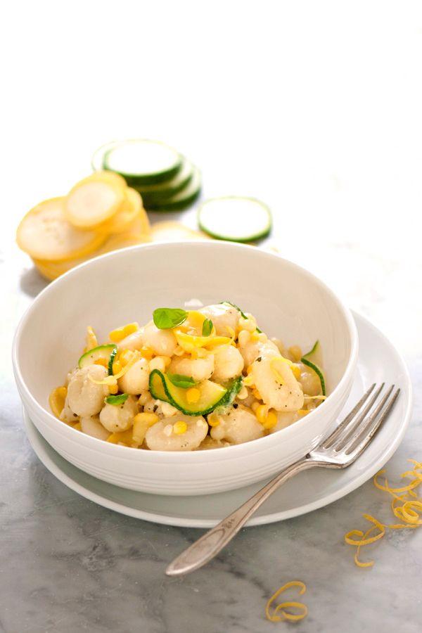 Recipe for Creamy Gluten-Free Gnocchi with Summer Vegetables | DeLallo Recipes #glutenfree #italian