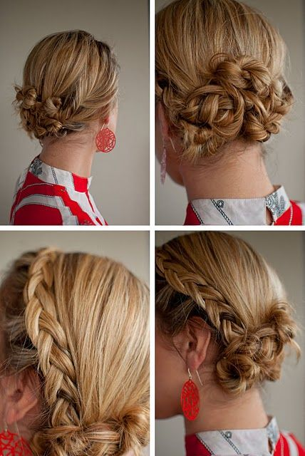 braided twisted buns--so pretty  #