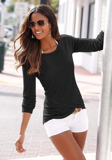 Soft Knit Wrap Sweater von LASCANA Eleganter Wickeleffekt