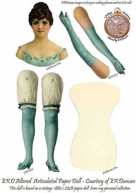 Mini L&B Victorian Paper Doll gets several new looks   Flickr - Photo Sharing!