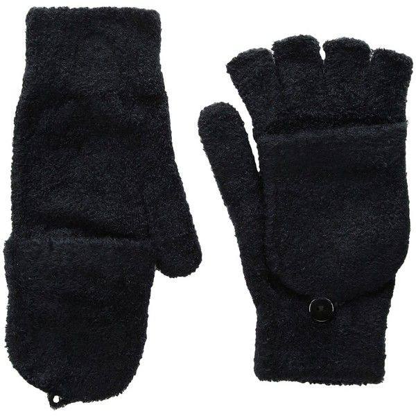 Steve Madden Sold Magic Tailgate Gloves (Black) Extreme Cold Weather... ($18) ❤ liked on Polyvore featuring accessories, gloves, mitten gloves, convertible mitten gloves, cold weather gloves, nylon gloves and fingerless gloves