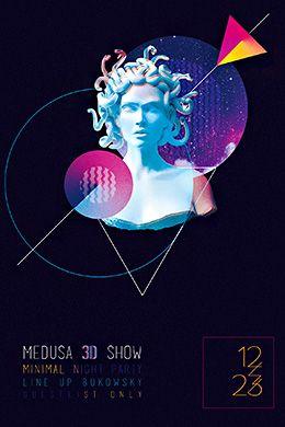 Medusa Show PSD Flyer Template