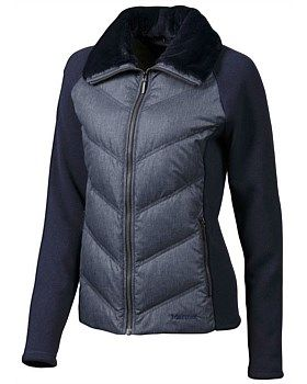Marmot have combined a cosy sweater with the warmth of down in the Thea Jacket…