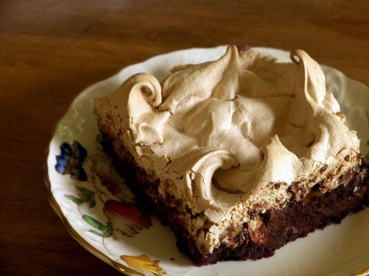 brown sugar meringue capped brownies | brownies | Pinterest