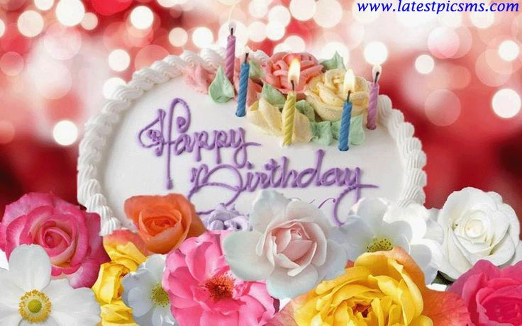 Happy Birthday Wishes Images Flowers And Cakes Happy Birthday Rose Happy Birthday Free Birthday Wishes And Images