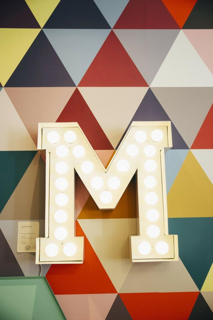 Papier peint - Minakani Lab Mosaic - En vente ici http://www.aufildescouleurs.com/minakamilab/3954-mosaic-triangle-multicolore.html