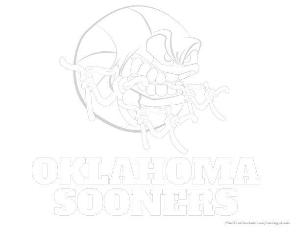 Oklahoma Sooners Basketball Coloring Sheet Printable