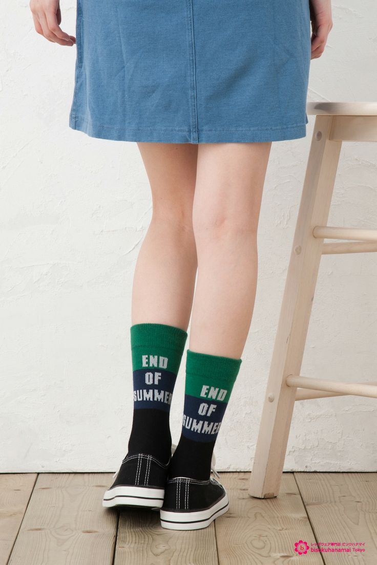 END OF SUMMER CREW SOCKS Black JPY333(without TAX)
