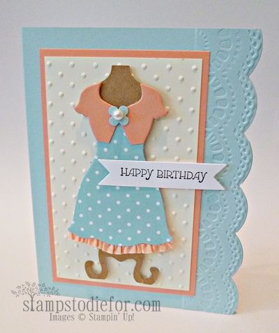 Stampin' Up! Dress Up Framelits.  Did you like to play dress up as a child?  I know I did! www.stampstodiefor.com