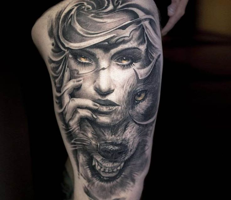 Wild Face tattoo by Victor Portugal