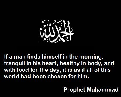 Yet so little do we count our blessings and so easily we forget to thank ALLAH!!