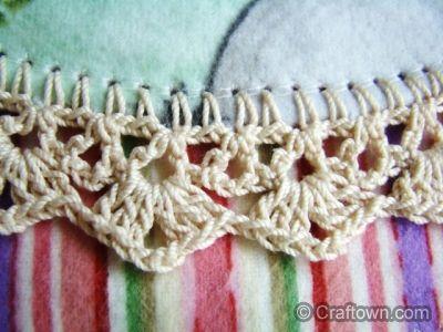 Crochet blanket edging