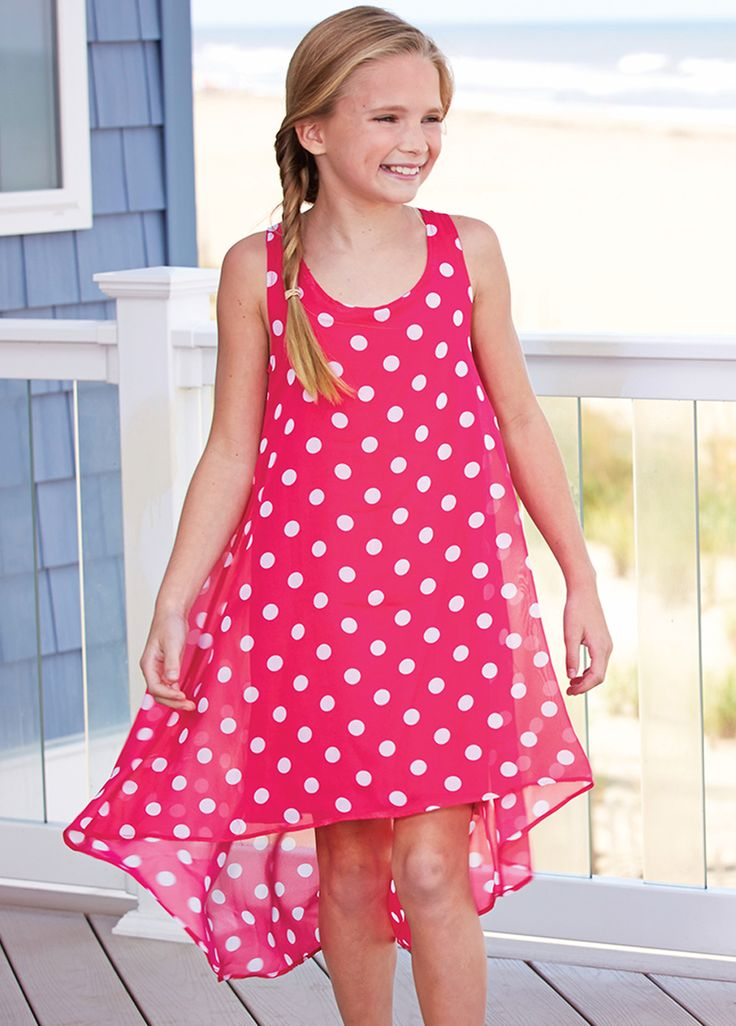 From CWDkids: Polka Dot High-Low Dress