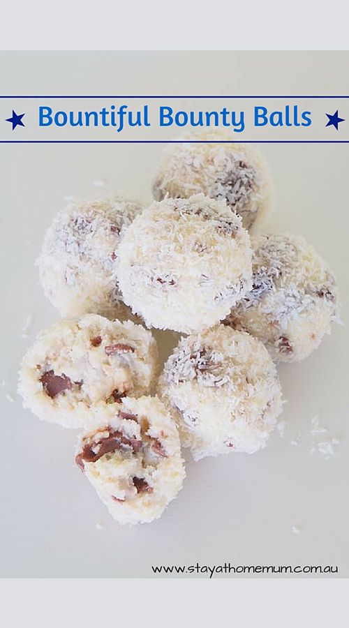 These Bountiful Bounty Balls - only 4 ingredients and no cooking required! Easy to make and are sure to be a hit. Ready in 40 minutes.