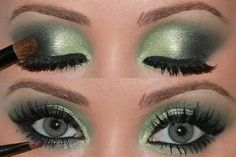 what is the best makeup color that goes with green clothing - Google Search