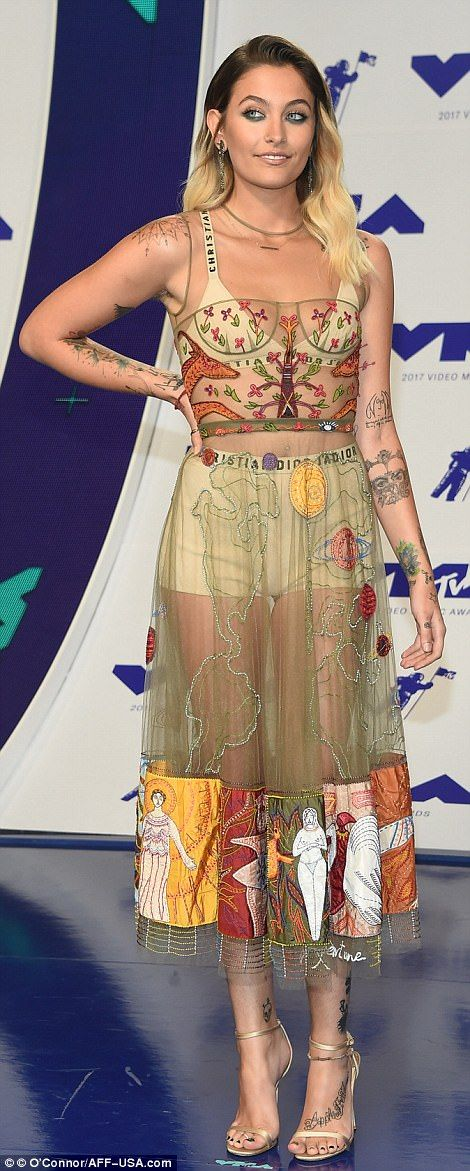 "Sizzle in sheer Dior like Paris Jackson  Click ""Visit"" to buy #DailyMail"