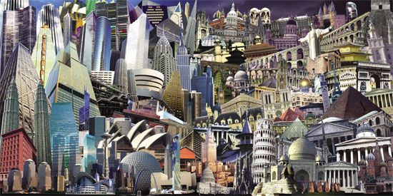 All the buildings in the World Gathered in one image, by Arnoud van den Heuvel