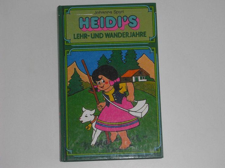Vintage Kinderbücher - Johanna Spyri - Heidi`s Lehr- und Wanderjahre - ein Designerstück von allesfuermich bei DaWanda