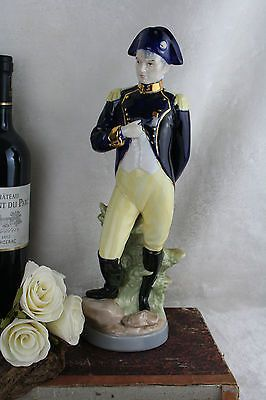 Napoleon Military Officer Soldier Porcelain figurine marked italian 1960
