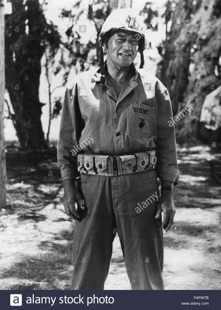 John Wayne / Sands Of Iwo Jima / 1949 Directed By Allan Dwan[republic Stock Photo, Royalty Free Image: 89013215 - Alamy