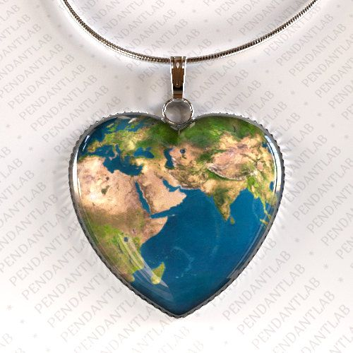 The 25 best world map necklace ideas on pinterest map necklace earth heart pendant earth necklace world map map necklace map of africa map of europe universe necklace geek jewelry planet necklace gumiabroncs Image collections