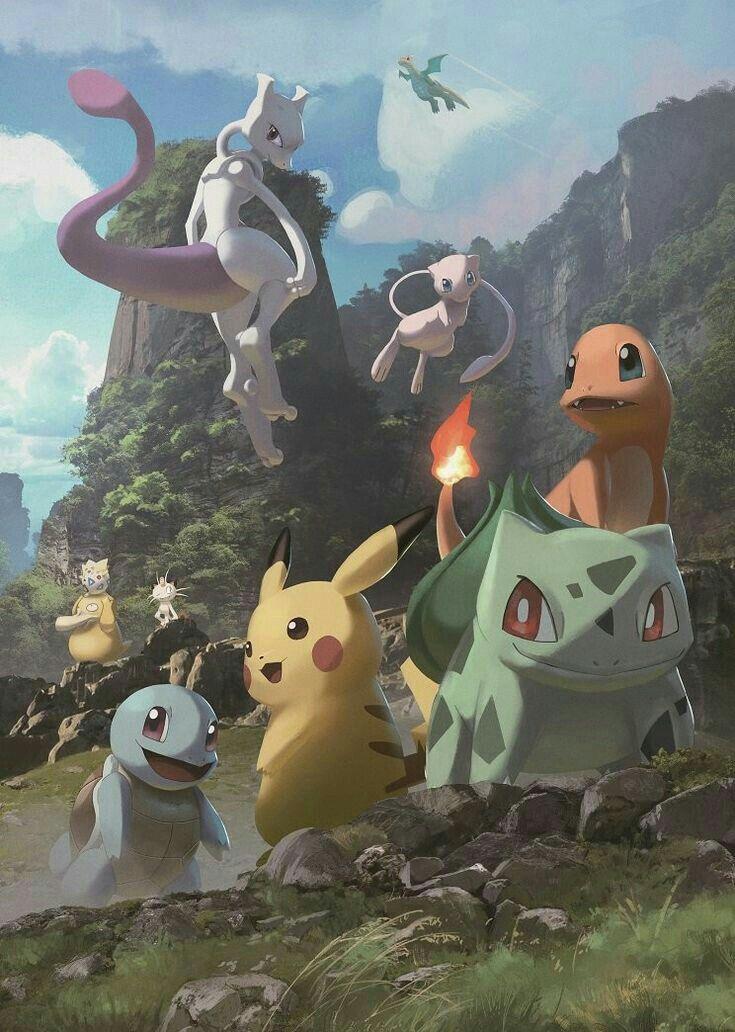 Cute Pokemons Pokemon Poster Mew And Mewtwo Cute Pokemon Wallpaper
