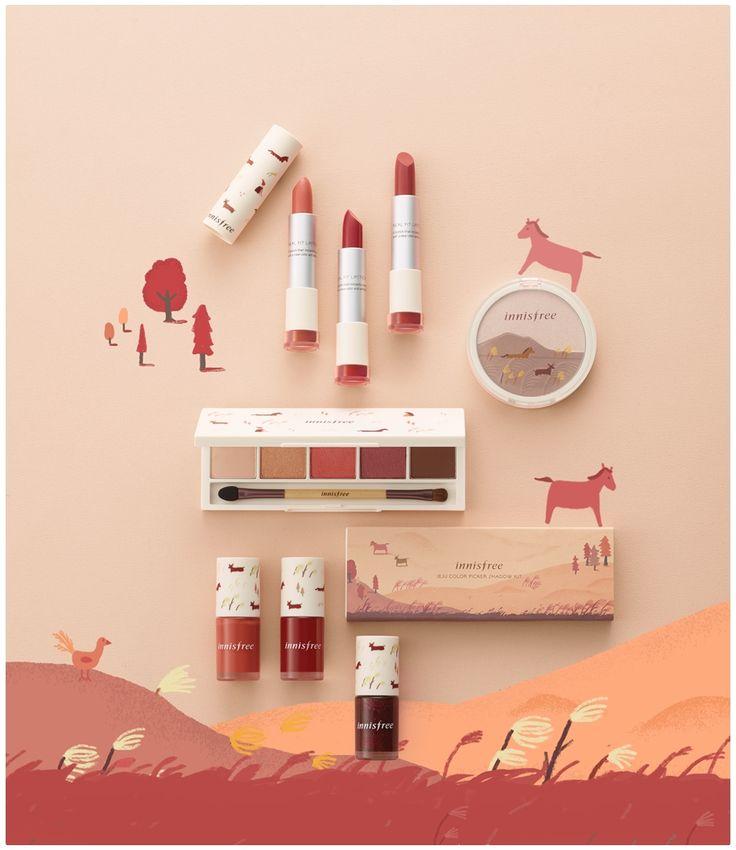 이니스프리 산굼부리 컬렉션 제주 컬러 피커로 가을 메이크업 도전 : 네이버 블로그