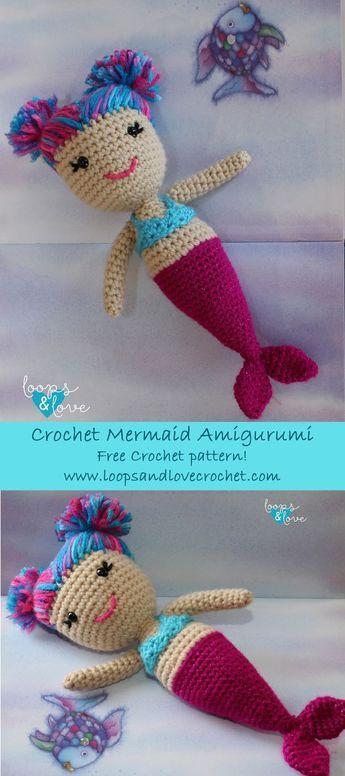 Mermaid Amigurumi | Häkelspaß - Häkeln für die Familie | Pinterest ...