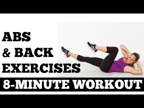 8 Minute Abs and Back Exercises Full Length Core Strength Workout - YouTube