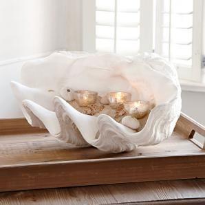 Deko Muschel Condière   Detailverliebt Einer Echten Muschel Nachempfunden,  Allerdings In Einer Wahrhaft Opulenten Größe! Das Kunstobjekt Ist Aus Gips  ...