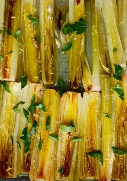 Braised Leeks With Lemon and Parsley | Recipe | Lemon ...