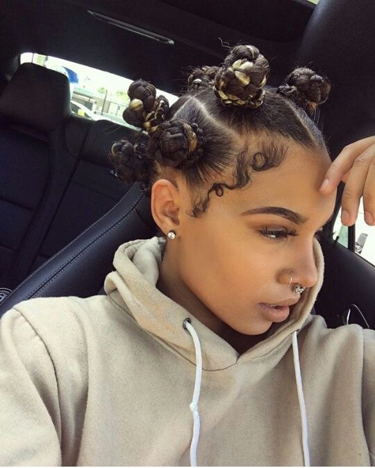 afro haircuts for 485 best bantu knots images on bantu knots 3483