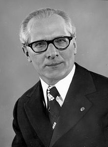 Under the leadership of Erich Honecker, members of the Politburo, the highest decision-making body of the SED, appeal to the general secretary of the CPSU (Communist Party of the Soviet Union) for help in removing Walter Ulbricht. They argue for the necessity of his departure, pointing to mistakes he had made in economic and foreign policy.