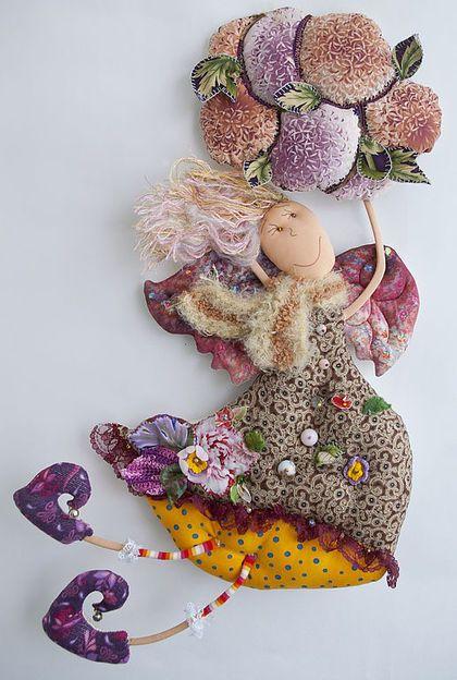 Коллекционные куклы ручной работы. Ярмарка Мастеров - ручная работа О чём ещё поёт ветер). Handmade.