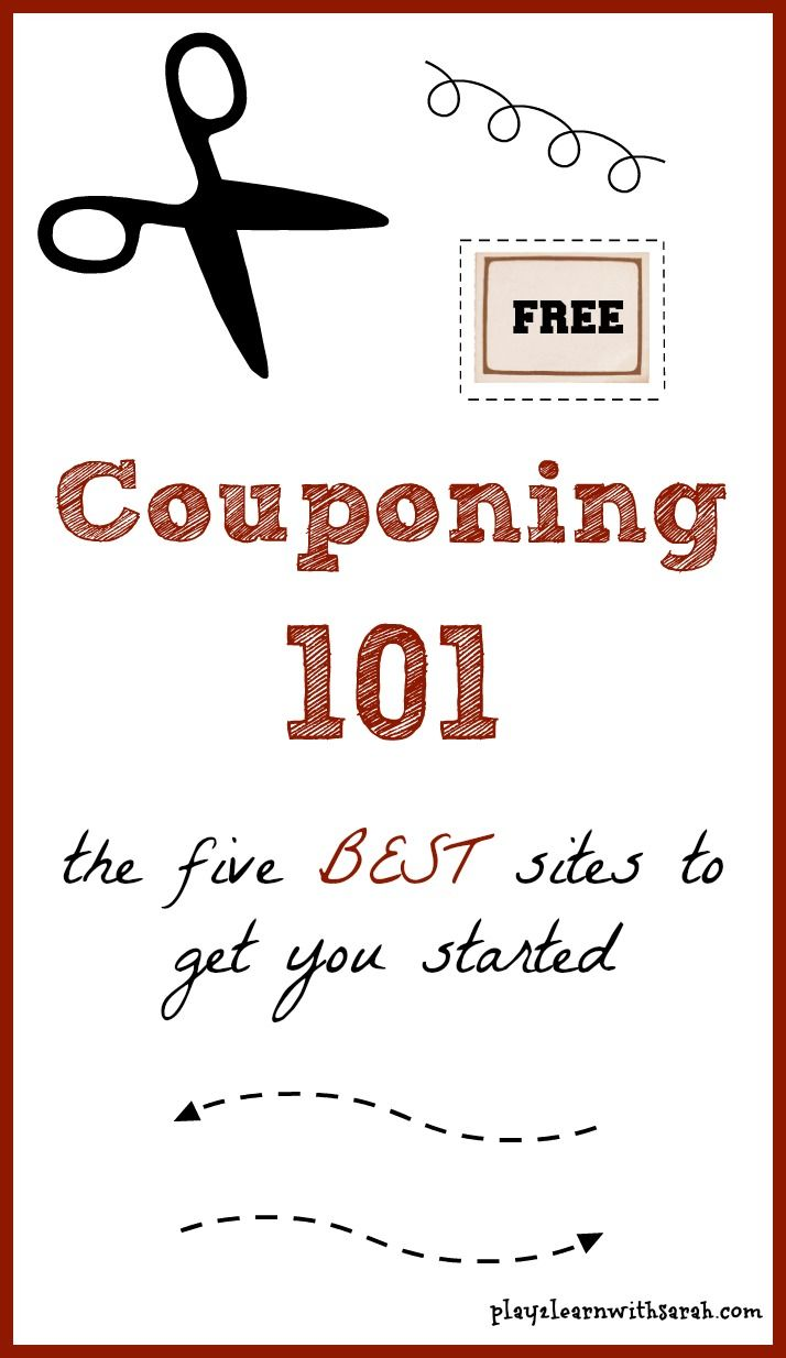 Couponing 101- The 5 BEST Sites to Get You Started