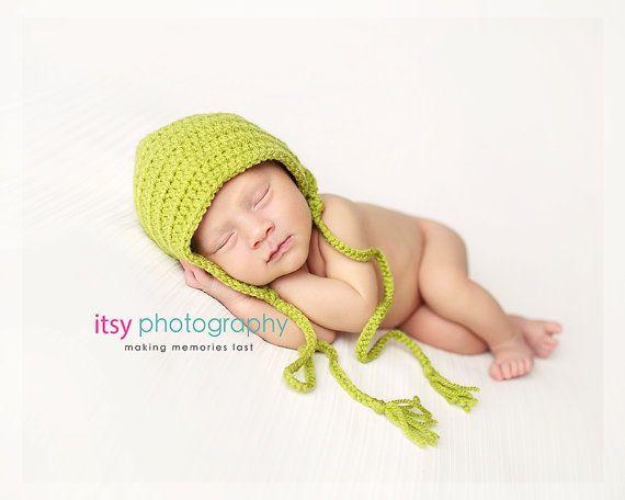 Plain Baby BonnetEssential Newborn Bonnet Basic by KiransWorld